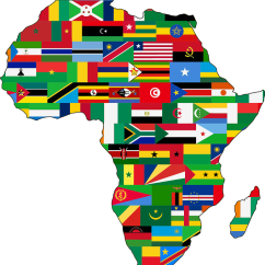 Map of African Flags